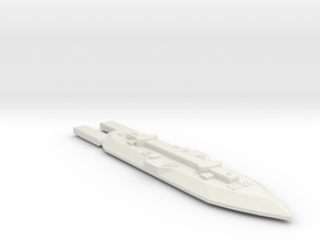 3788 Scale Frax Missile Destroyer (MDW) MGL in White Natural Versatile Plastic