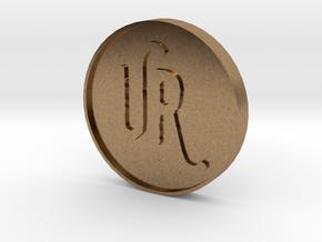 UrsulasRevenge Fan Coin in Natural Brass