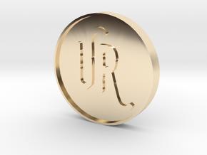 UrsulasRevenge Fan Coin in 14K Yellow Gold