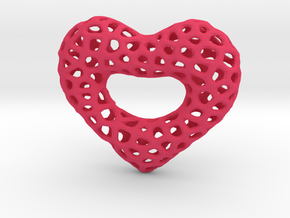 Netted Heart in Pink Processed Versatile Plastic