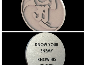 Alex and Ryan Design LLC. Challenge Coin  in Polished Bronzed Silver Steel