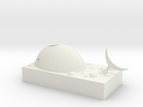 Whale paper clip storage box in White Natural Versatile Plastic