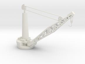 1/96 Scale Battleship Boat Crane in White Natural Versatile Plastic