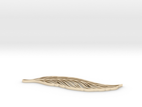 Feather_ultimate in 14k Gold Plated Brass: Extra Small