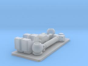 D9R Dozer Trunnion Set in Smooth Fine Detail Plastic: 1:35