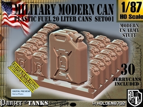 1/87 Modern Military FUEL Can Set001 in Smooth Fine Detail Plastic