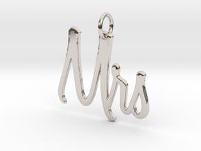 Mrs Pendant in Platinum