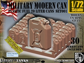 1/72 Modern Military FUEL Can Set001 in Smooth Fine Detail Plastic