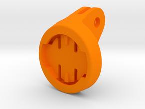 Wahoo Elemnt GoPro Mount in Orange Processed Versatile Plastic