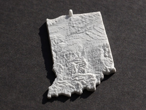 Indiana Christmas Ornament in White Natural Versatile Plastic