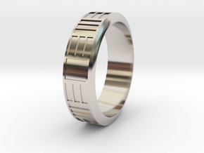 FriendRing in Rhodium Plated Brass