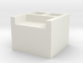 AT-AT Connection Box in White Natural Versatile Plastic