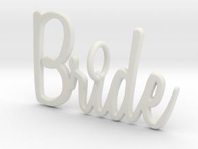 Bride Pendant in White Natural Versatile Plastic