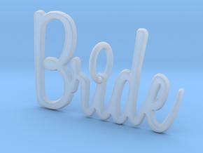 Bride Pendant in Smooth Fine Detail Plastic
