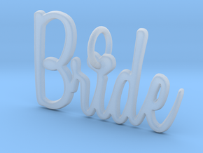 Bride Heart Pendant in Smooth Fine Detail Plastic