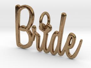 Bride Heart Pendant in Natural Brass
