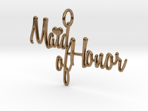 Maid of Honor Heart Pendant in Natural Brass