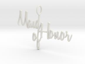Maid of Honor Pendant in White Natural Versatile Plastic