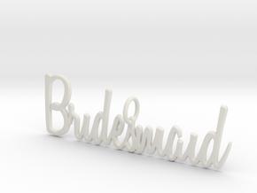 Bridesmaid Pendant in White Natural Versatile Plastic