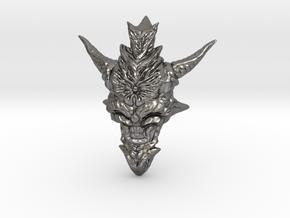 Dragon Head Pendant Top 01 in Polished Nickel Steel