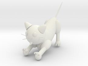 貓 in White Natural Versatile Plastic: 6mm