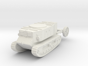 1/72 Little Willie tank in White Natural Versatile Plastic