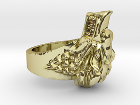 Direwolves Ring in 18k Gold Plated Brass