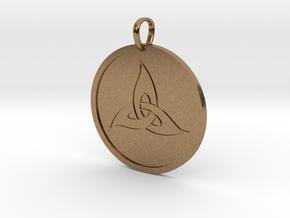 Triquetra Medallion in Natural Brass
