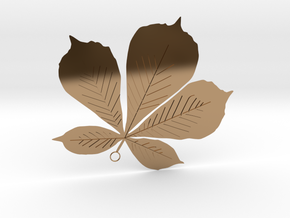 Sycamore Leaf Pendant in Polished Brass