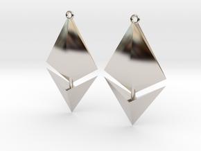 Ethereum Earring Pendants in Platinum