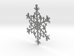 Snowflake Ornament in Natural Silver