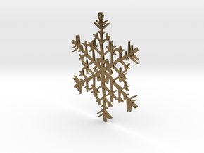 Snowflake Ornament in Natural Bronze