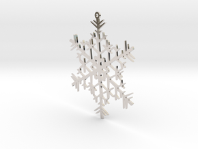 Snowflake Ornament in Rhodium Plated Brass