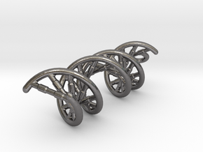 DNA-B EARRING in Polished Nickel Steel