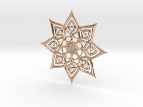 Mandallion 2353 in 14k Rose Gold Plated Brass