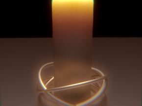 Orbital Candle Holder in White Strong & Flexible