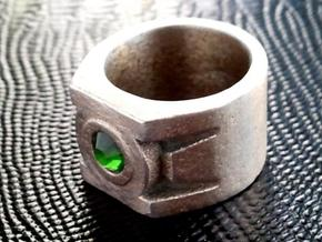 Green Lantern Ring size 12 in Stainless Steel