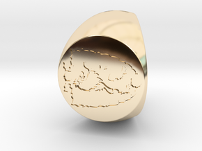 Custom Signet Ring 71 in 14k Gold Plated Brass
