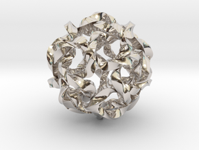 Knot Berry in Rhodium Plated Brass