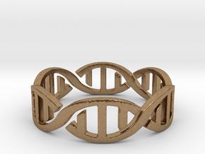 DNA Ring Size 7 in Natural Brass: 7 / 54