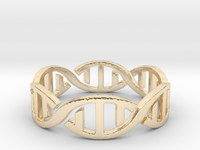 DNA Ring Size 7 in 14k Gold Plated Brass: 7 / 54