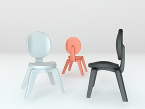 1:22.5 scaled chair 1 in White Strong & Flexible Polished