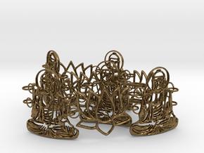Buddah Bracelet 24 cm in Natural Bronze (Interlocking Parts)