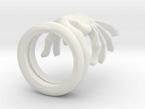 ALIENS Facehugger Ring in White Natural Versatile Plastic: 8 / 56.75
