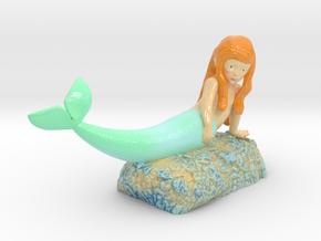 Mermaid in Glossy Full Color Sandstone