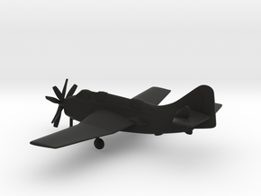 Fairey Gannet AS.I in Black Natural Versatile Plastic: 1:160 - N