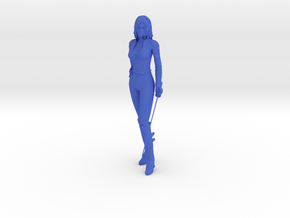 1/10 Lady with Sword  in Blue Processed Versatile Plastic