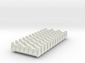 6mm Defensive Barriers  in White Strong & Flexible