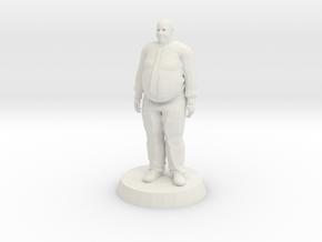 Fat Business Man in White Natural Versatile Plastic