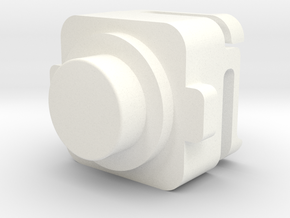 MI-6 Case Front Button in White Processed Versatile Plastic